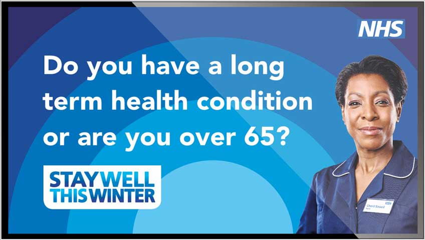 envisage waiting room TV stay well winter screenshot