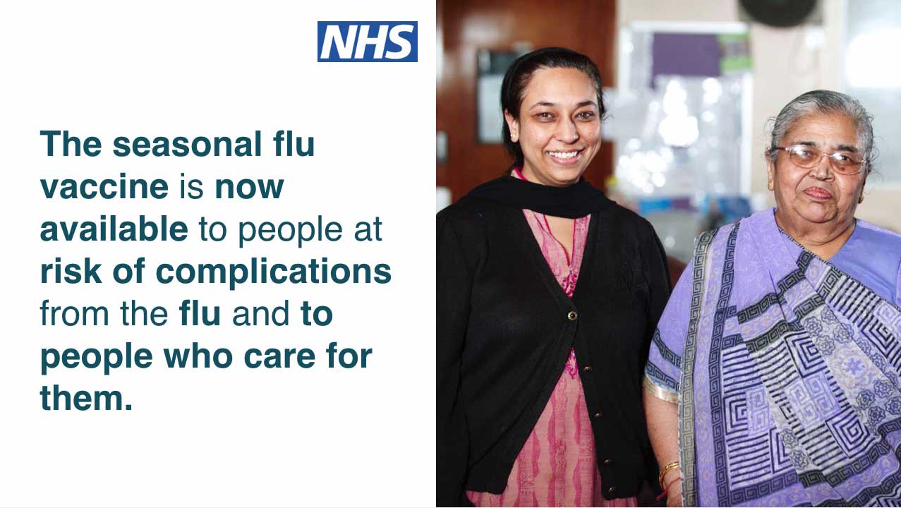 Promote the flu vaccination at your GP practice