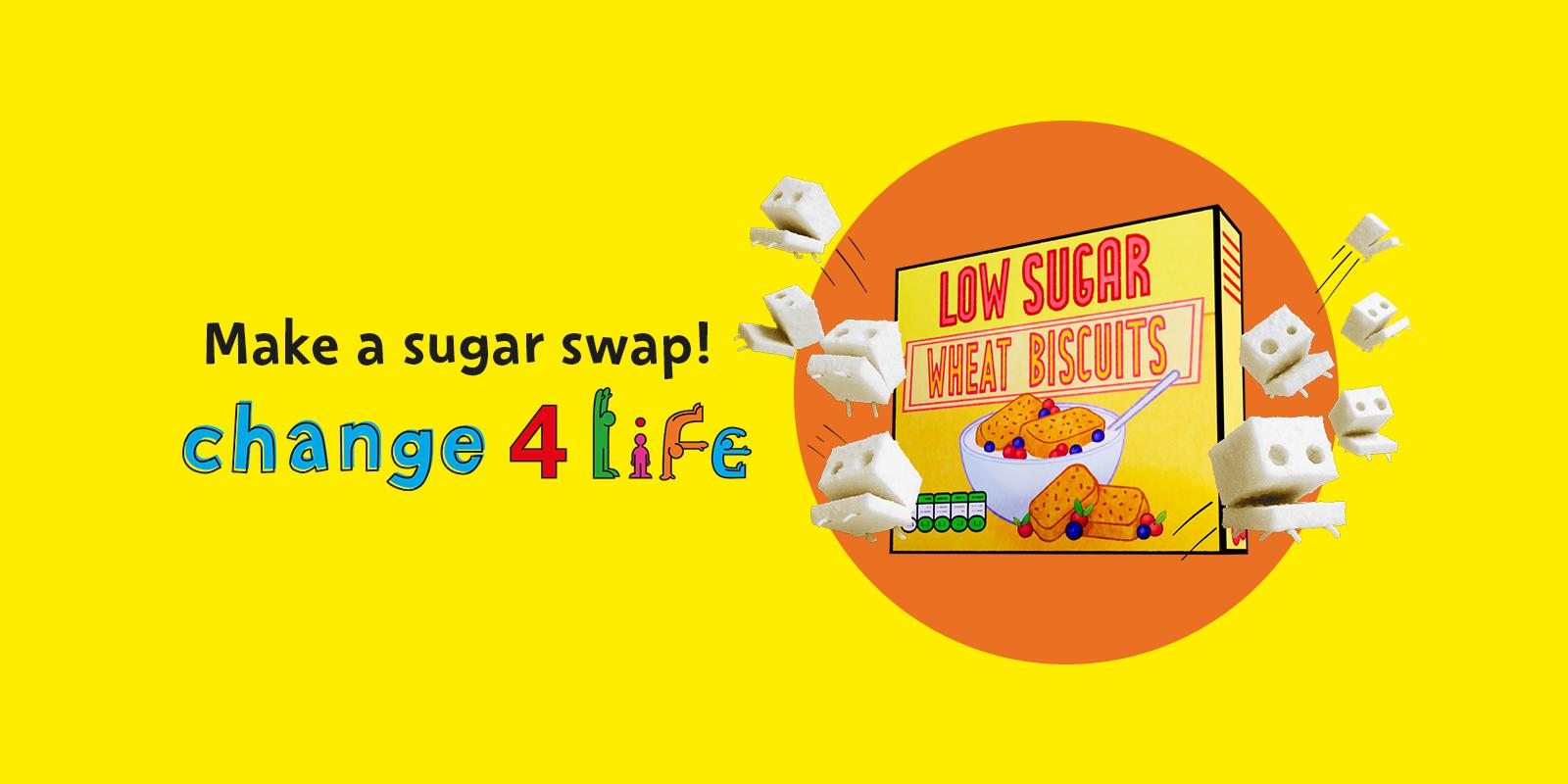 Change4Life sugar swaps helps families cut sugar intake