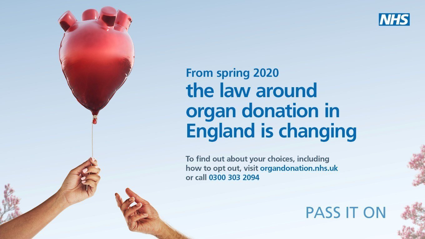 Make your patients aware of the organ donation law change