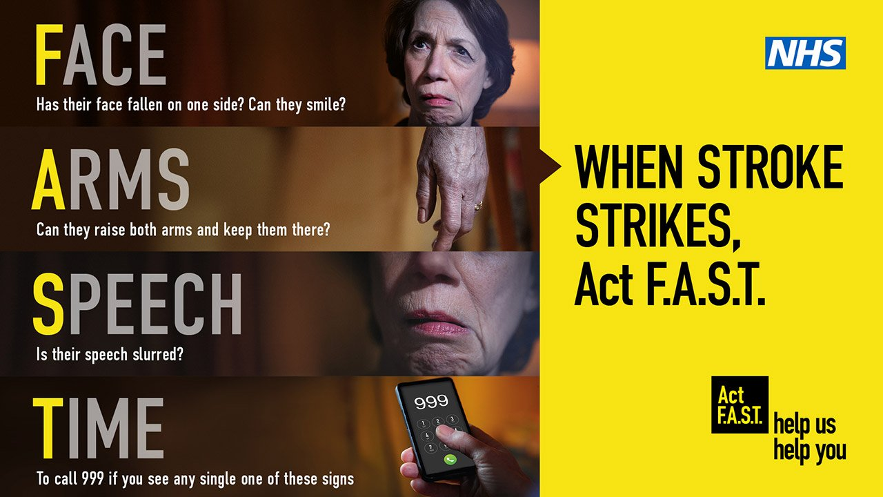 Supporting the Act FAST campaign in the waiting room